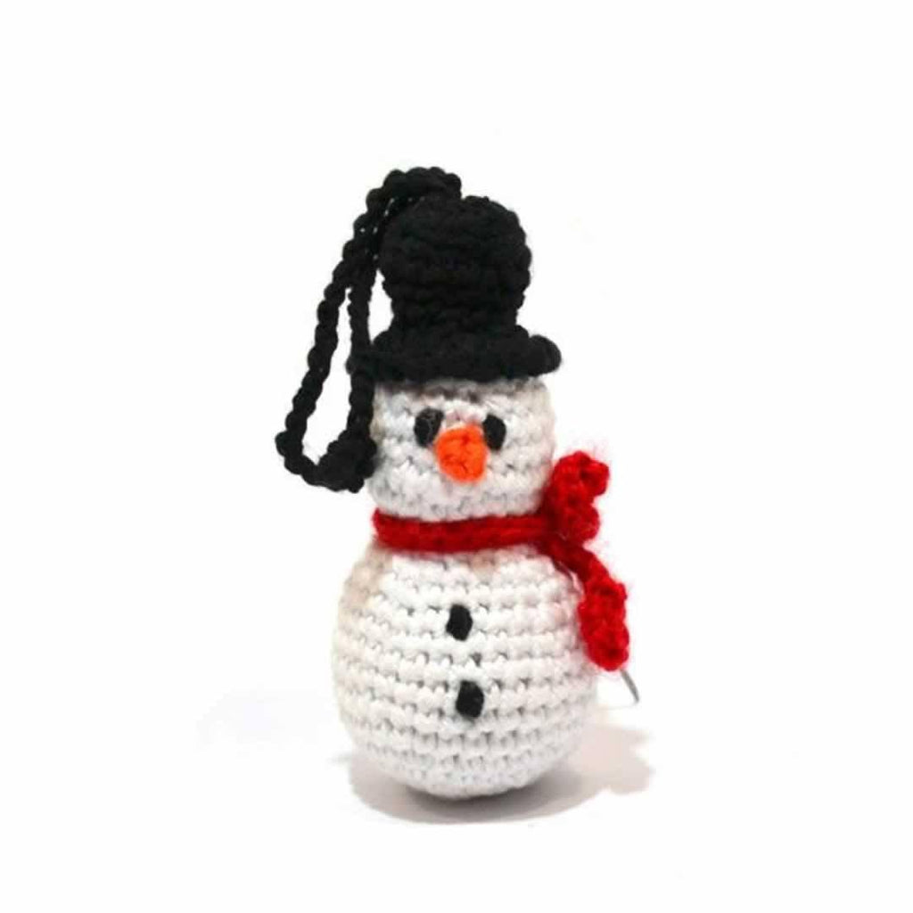 Ana Gibb Knitted Snowman-Soft Toys-Default- Natural Baby Shower