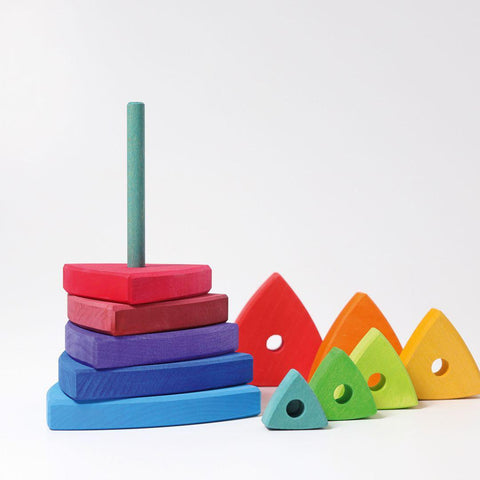 Grimms Conical Tower Wankel-Sorting & Stacking Toys- Natural Baby Shower