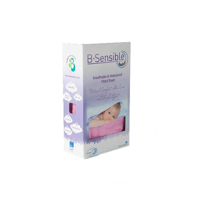 B-Sensible Baby Fitted Sheets - Single 3'0 90 x 190 - Pink-Sheets-Default- Natural Baby Shower