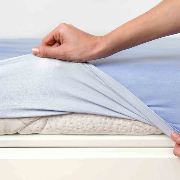 B-Sensible Baby Fitted Sheet - Cot Bed 70 x 140 - White-Sheets-Default- Natural Baby Shower