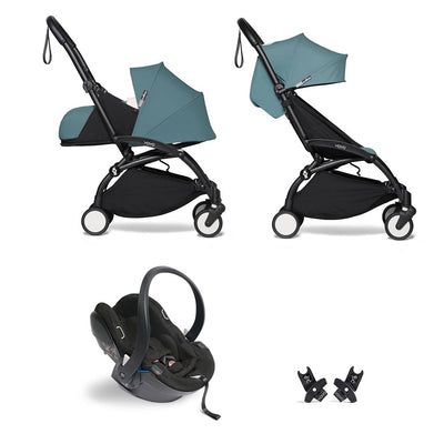 BABYZEN YOYO2 Travel System - Aqua-Travel Systems-Aqua-Black- Natural Baby Shower