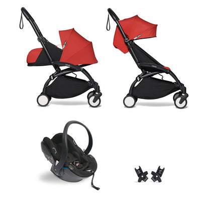 BABYZEN YOYO2 Travel System - Red-Travel Systems-Red-Black- Natural Baby Shower