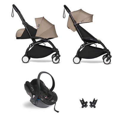 BABYZEN YOYO2 Travel System - Taupe-Travel Systems-Taupe-Black- Natural Baby Shower