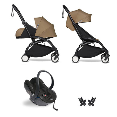 BABYZEN YOYO2 Travel System - Toffee-Travel Systems-Toffee-Black- Natural Baby Shower