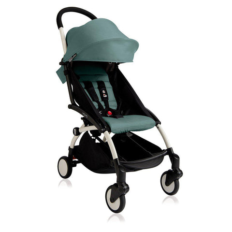 BABYZEN YOYO+ 6+ Stroller - White with Aqua-Strollers- Natural Baby Shower