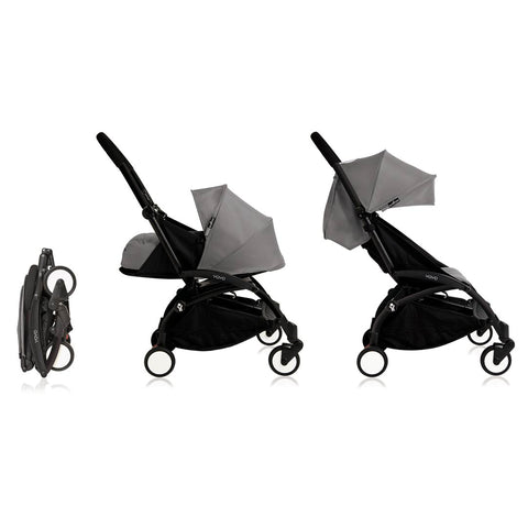 BABYZEN YOYO+ Complete Stroller - Black & Grey-Strollers- Natural Baby Shower