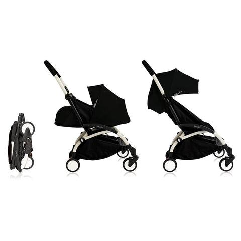 BABYZEN YOYO+ Complete Stroller - White & Black-Strollers- Natural Baby Shower