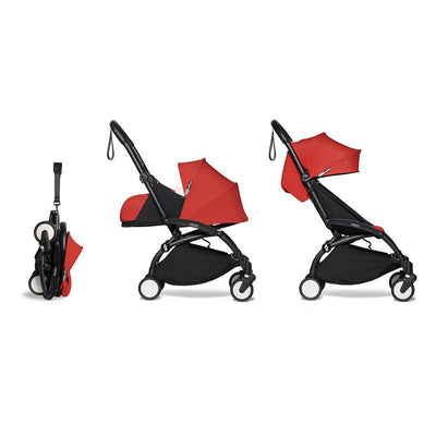BABYZEN YOYO2 Complete Stroller - Red-Stroller Bundles-Red-Black- Natural Baby Shower