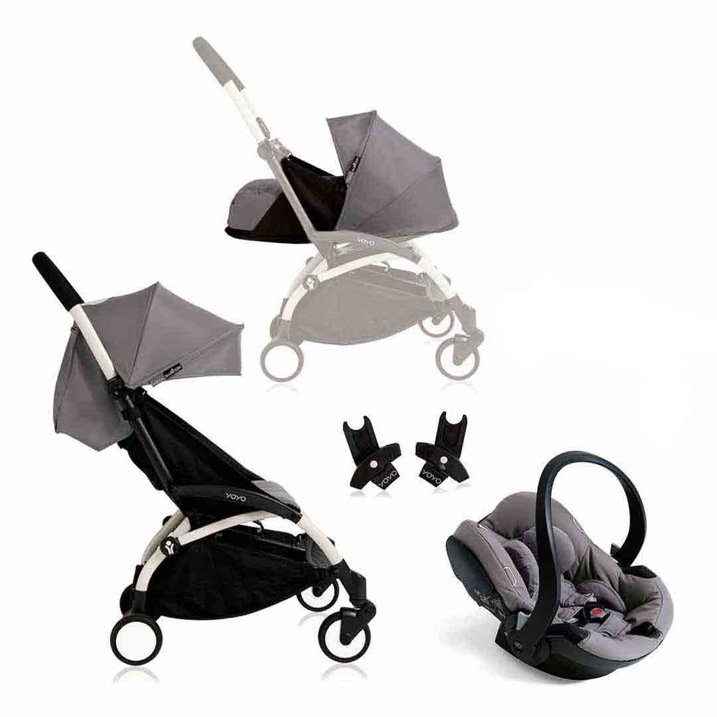 BABYZEN YOYO+ Travel System - White with Grey 1