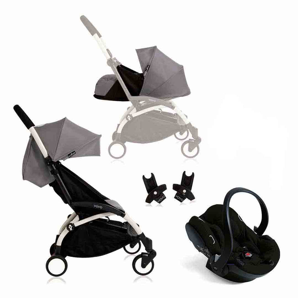 BABYZEN YOYO+ Travel System - White with Grey