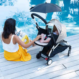 BABYZEN YOYO+ Complete Stroller - Black with Air France Blue-Strollers- Natural Baby Shower