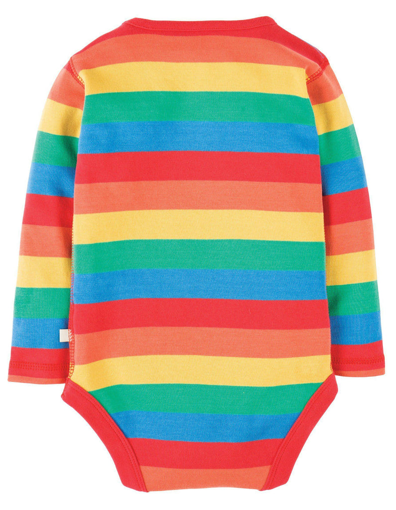Frugi Rainbow Body - Rainbow Stripe Back