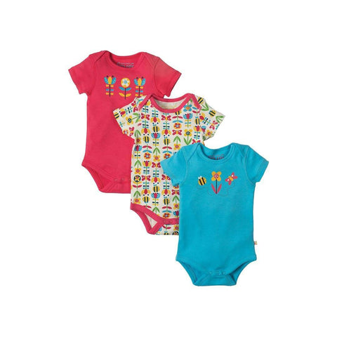 Frugi Super Special Body - Bumble Bloom Bee - 3 Pack