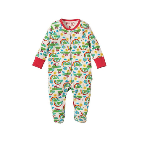 Frugi Lovely Babygrow - Happy Days