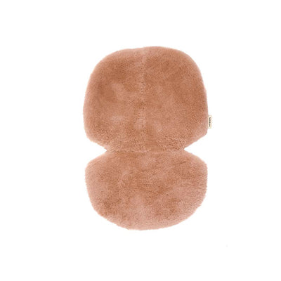 BINIBAMBA Sheepskin Snuggler - Rose-Seat Liners- Natural Baby Shower