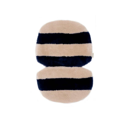 BINIBAMBA Stripe Sheepskin Snuggler - Blue Rose-Seat Liners- Natural Baby Shower