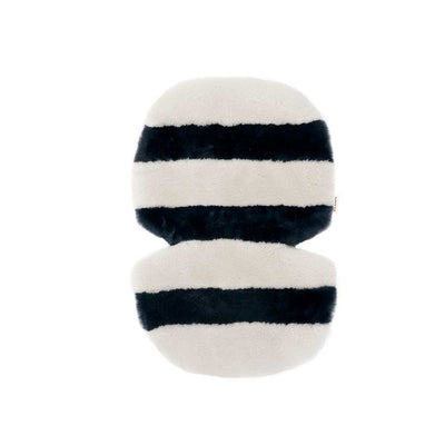 BINIBAMBA Stripe Sheepskin Snuggler - Half Moon-Seat Liners- Natural Baby Shower