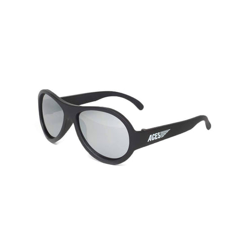 Babiators Aces Aviator - Black Ops Black with Mirrored Lens
