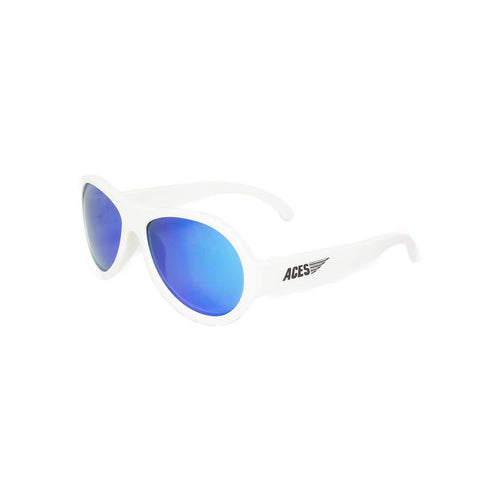 Babiators Aces Aviator Wicked White with Blue Lens