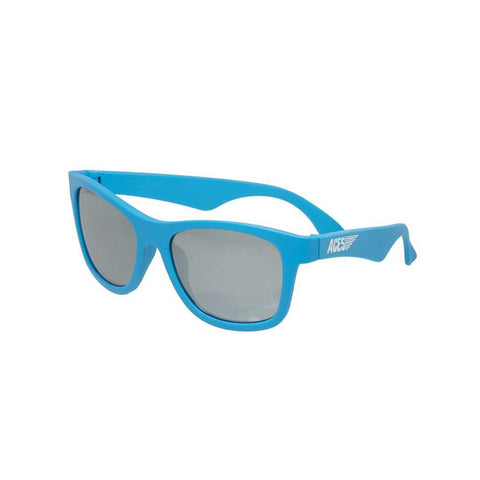 Babiators Aces Navigator - Blue Crush/Mirrored Lens-Sunglasses-Blue- Natural Baby Shower
