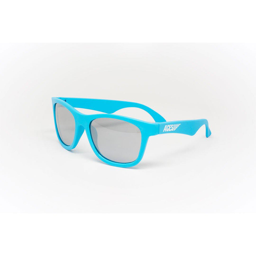 Babiators Aces Navigator - Electric Blue/Mirrored Lens-Sunglasses-Electric Blue- Natural Baby Shower