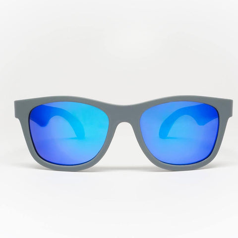 Babiators Aces Navigator - Galactic Gray/Blue Lens-Sunglasses-Gray- Natural Baby Shower