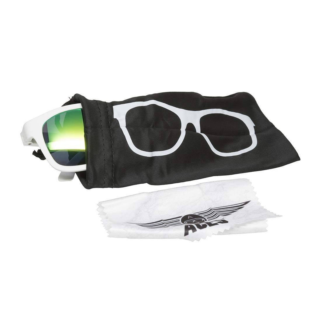 Babiators Aces Navigator - Wicked White/Green Lens-Sunglasses-White- Natural Baby Shower