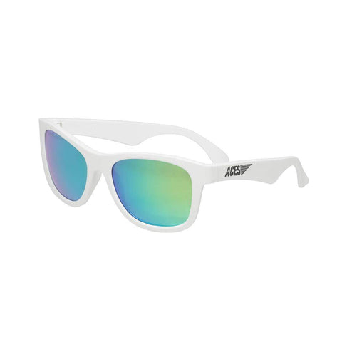 Babiators Aces Navigator Wicked White with Green Lens