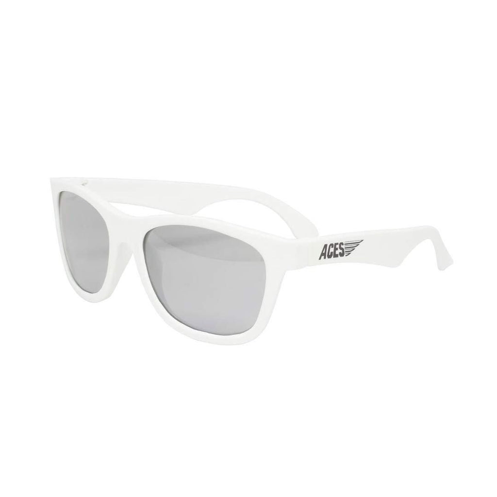 Babiators Aces Navigator - Wicked White with Mirrored Lens