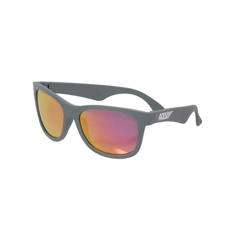 Babiators Aces Navigator - Galactic Gray/Pink Lens-Sunglasses-Gray- Natural Baby Shower