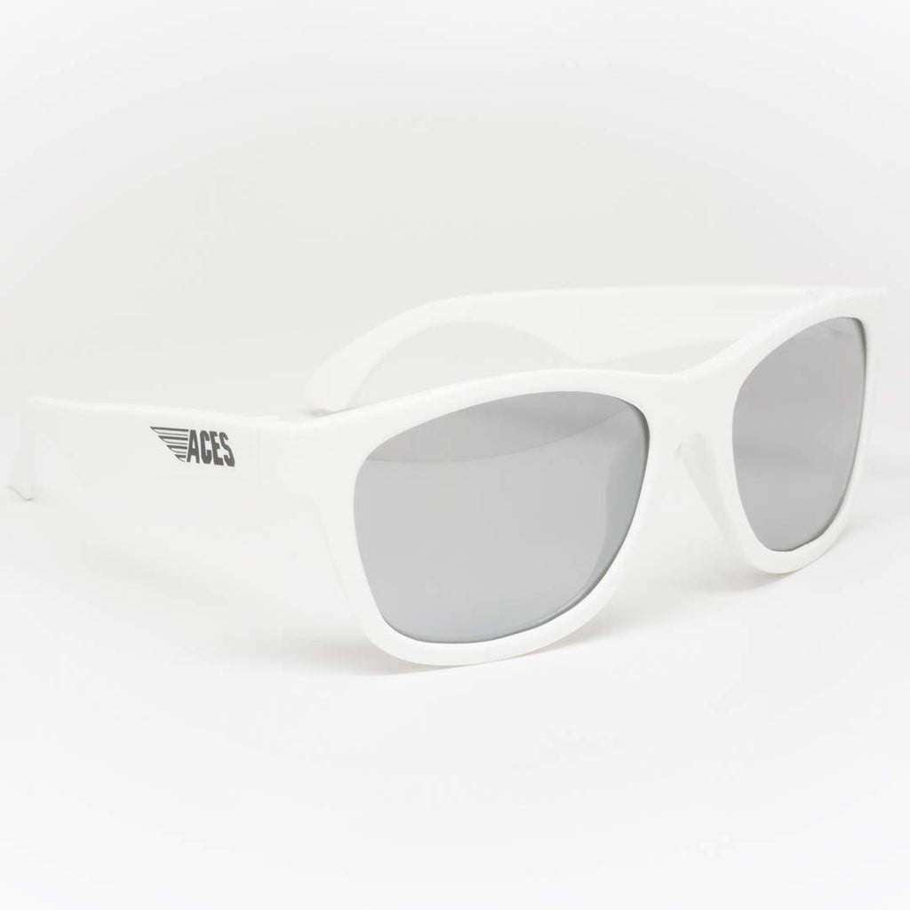 Babiators Aces Navigator Wicked White with Mirrored Lens