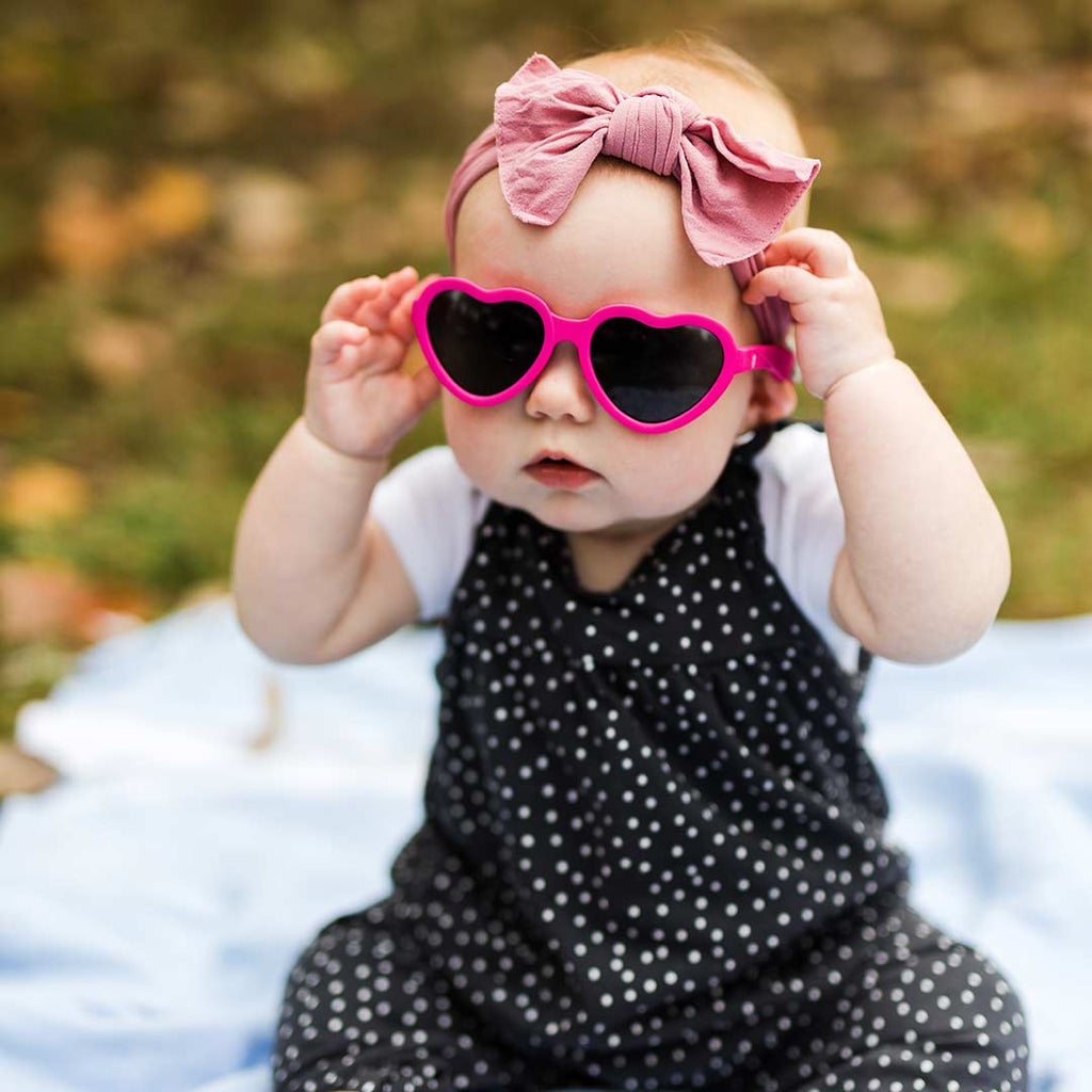 Babiators Original Junior Heart Shaped Sunglasses - Heartbreaker-Sunglasses-Junior (Ages 0-2)-Heartbreaker- Natural Baby Shower