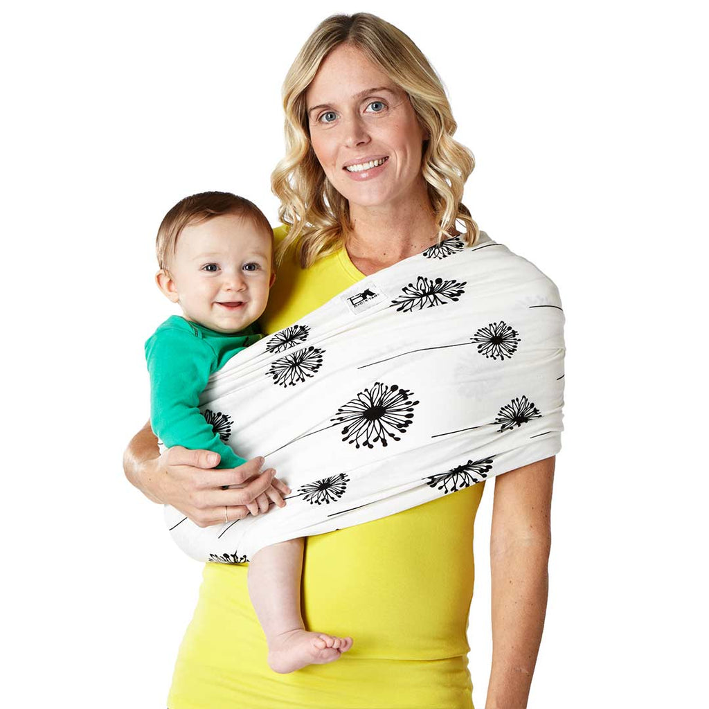 Baby K Tan Cotton Print Baby Carrier In Dandelion Natural Baby Shower