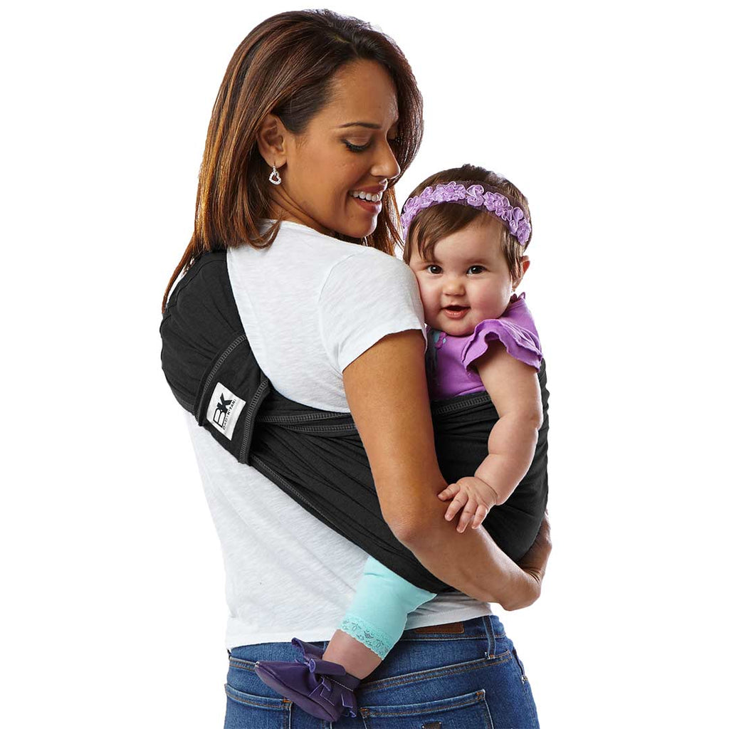 Baby K'tan Original Cotton Baby Carrier - Black 1
