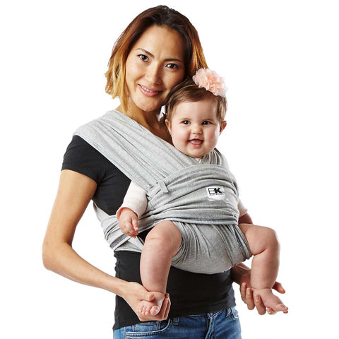 Baby K'tan Original Cotton Baby Carrier - Heather Grey-Baby Carriers- Natural Baby Shower
