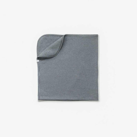 Baby Mori Brushed Organic Blanket Blue & Grey