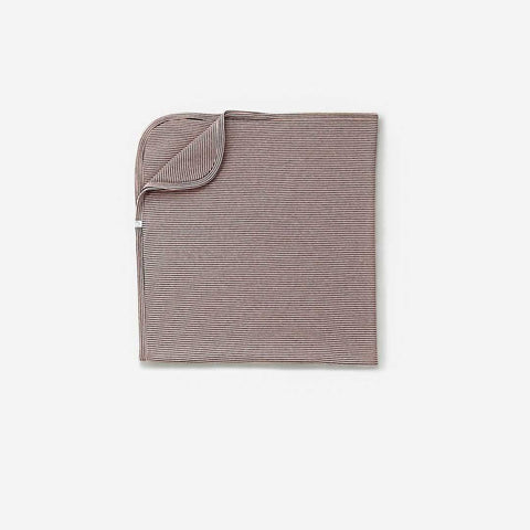 Baby Mori Brushed Organic Blanket Blush & Grey
