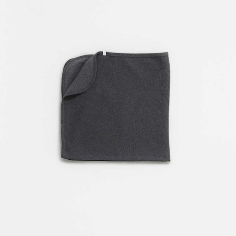 Baby Mori Brushed Organic Blanket Dark Grey