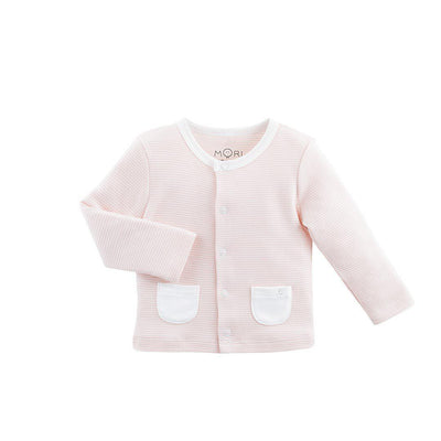 MORI Cardigan - Blush-Cardigans- Natural Baby Shower
