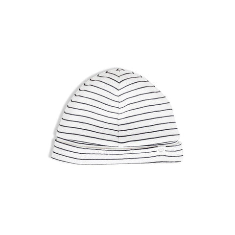 Baby Mori Hat Grey Stripe