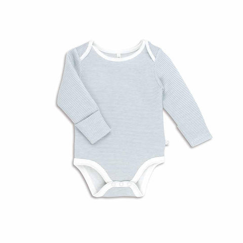 MORI Long Sleeve Bodysuit - Blue-Bodysuits- Natural Baby Shower