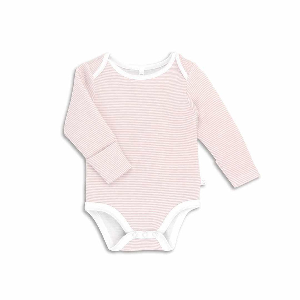 MORI Long Sleeve Bodysuit - Blush-Bodysuits- Natural Baby Shower