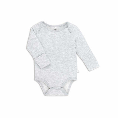 MORI Long Sleeve Bodysuit - Grey-Bodysuits- Natural Baby Shower