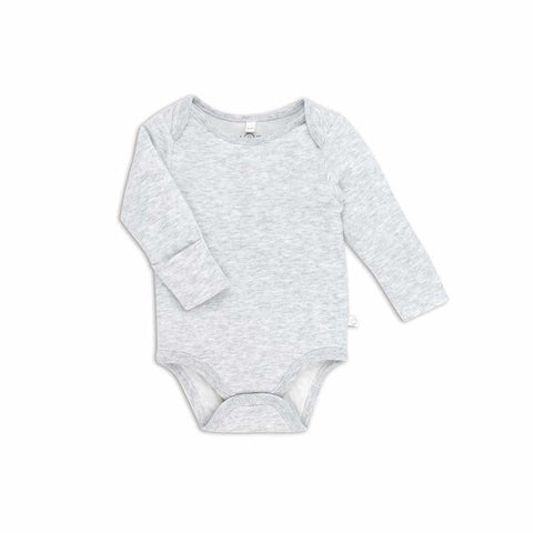 Baby Mori Long Sleeve Bodysuit Grey