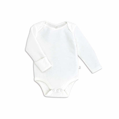Baby Mori Long Sleeve Bodysuit White
