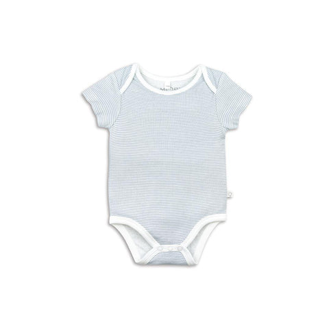 Baby Mori Short Sleeve Bodysuit Blue
