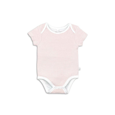 MORI Short Sleeve Bodysuit - Blush-Bodysuits- Natural Baby Shower