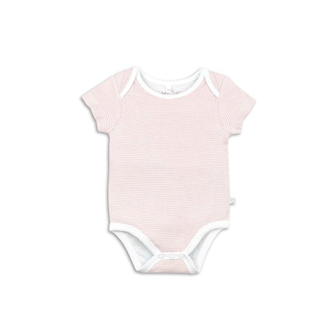 Baby Mori Short Sleeve Bodysuit Blush