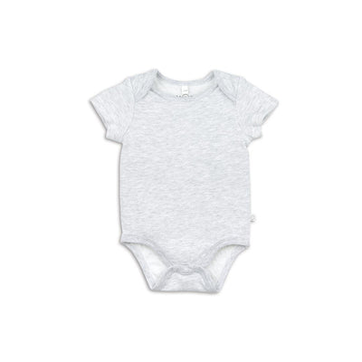 MORI Short Sleeve Bodysuit - Grey-Bodysuits- Natural Baby Shower