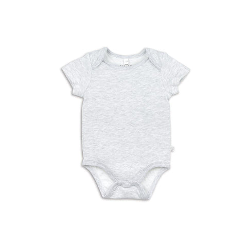 Baby Mori Short Sleeve Bodysuit Grey